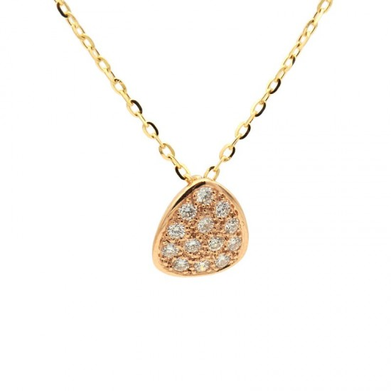 Colgante de oro rosa y diamantes