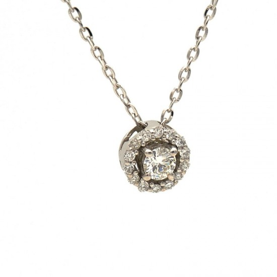 Colgante con diamante central y corona