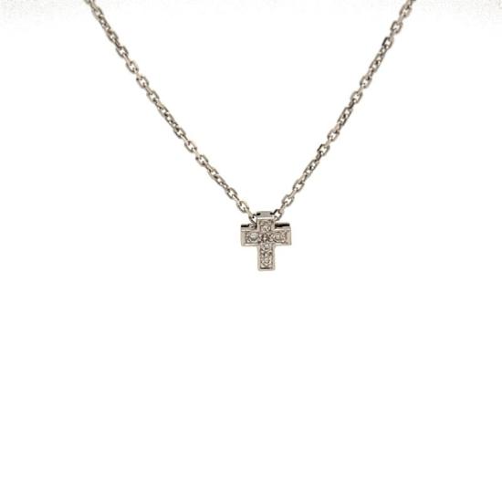 Colgante cruz con diamantes