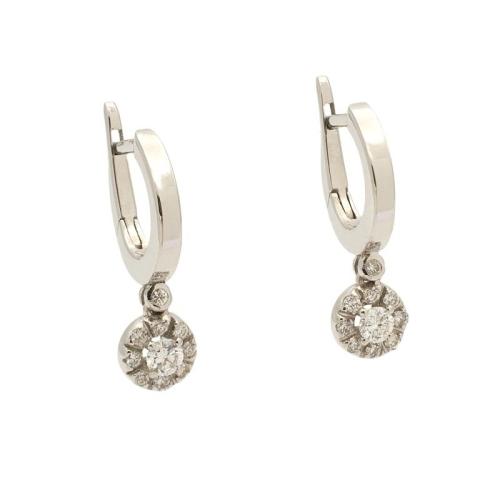 Pendientes de diamantes con forma de pequeños aros