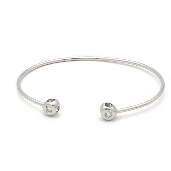 Pulsera Divina de oro blanco y diamantes - 1026