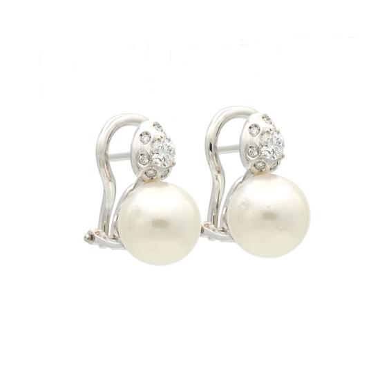 Pendientes de perlas australianas y...