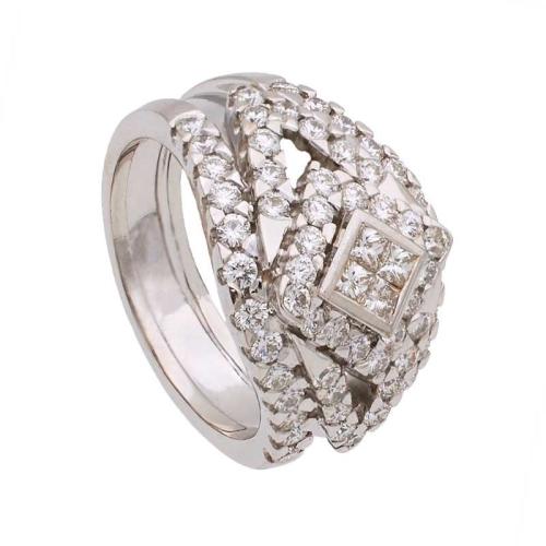 Sortija rombo con diamantes