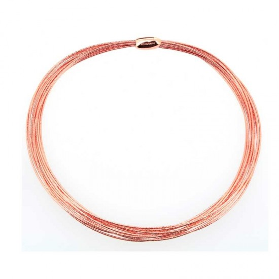 Collar Pesavento DNA Rosa Brillo
