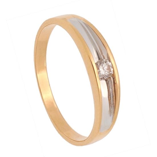 Solitario de oro y diamante - 0002