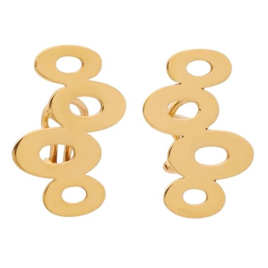 Pendientes de oro rosa con formas...