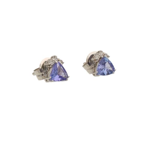 Pendientes de topacios y diamantes