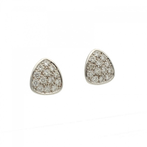 Pendientes triangulares con diamantes