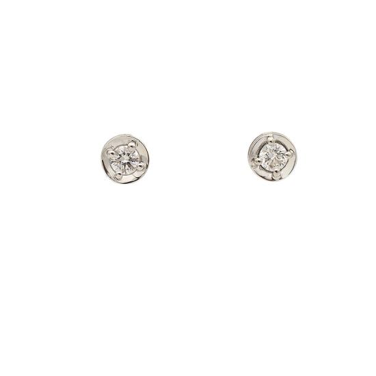 Pendientes de oro y diamantes - 0998
