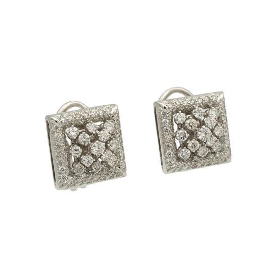 Pendientes cuadrados de diamantes