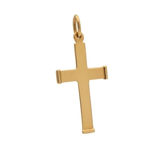 Cruz de oro con remates
