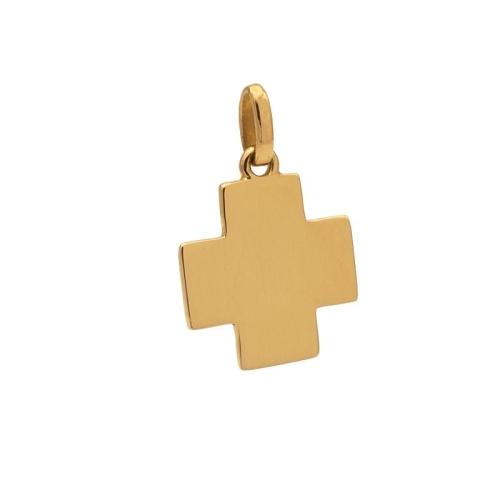 Cruz cuadrada de Oro Amarillo