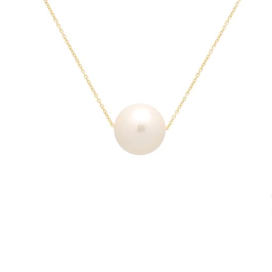 Colgante con perla cultivada y cadena...