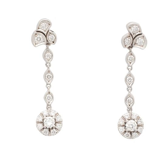 Pendientes de oro blanco y diamantes...