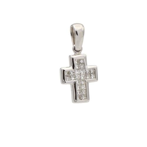 Cruz pequeña con diamantes