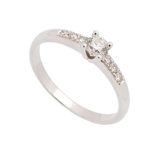 Sortija de oro blanco y diamantes - 0947