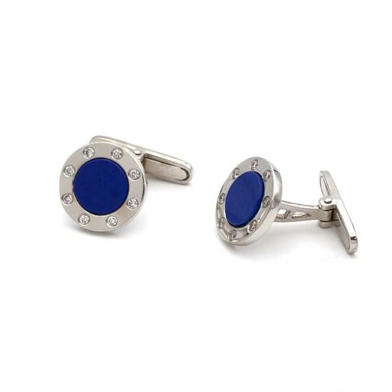 Gemelos de lapislázuli y diamantes