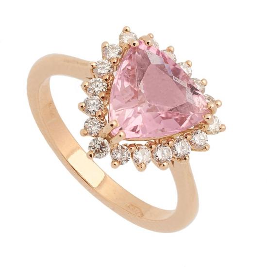 Sortija con Turmalina y diamantes - 0441
