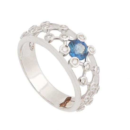 Sortija de Zafiro y Diamantes - 1240