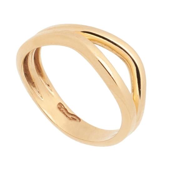 Sortija de oro de forma asimétrica -...