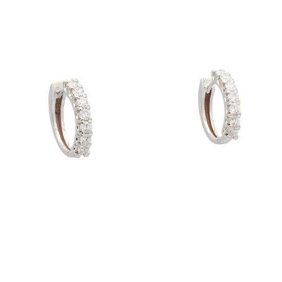 Pendientes en aro con diamantes - 1242