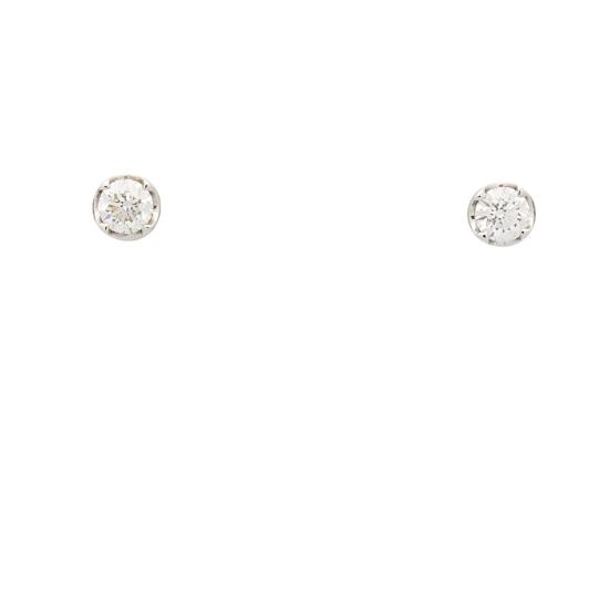 Pendientes redondos con diamantes - 0121