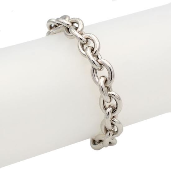Pulsera cadena grande de plata