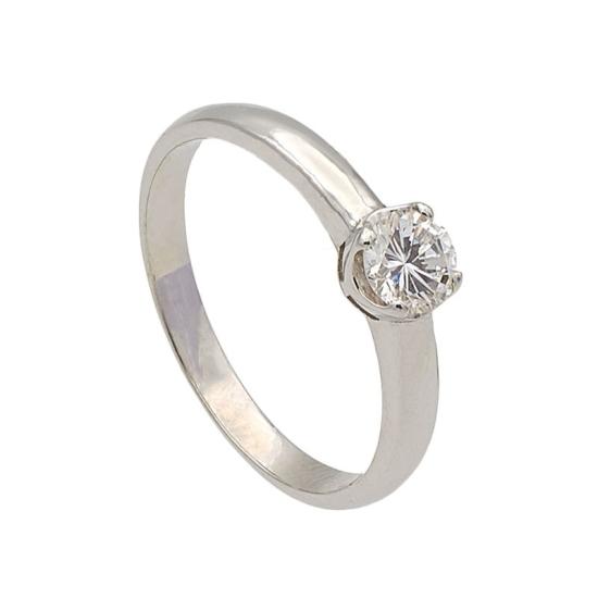 Solitario diamante cuatro garras
